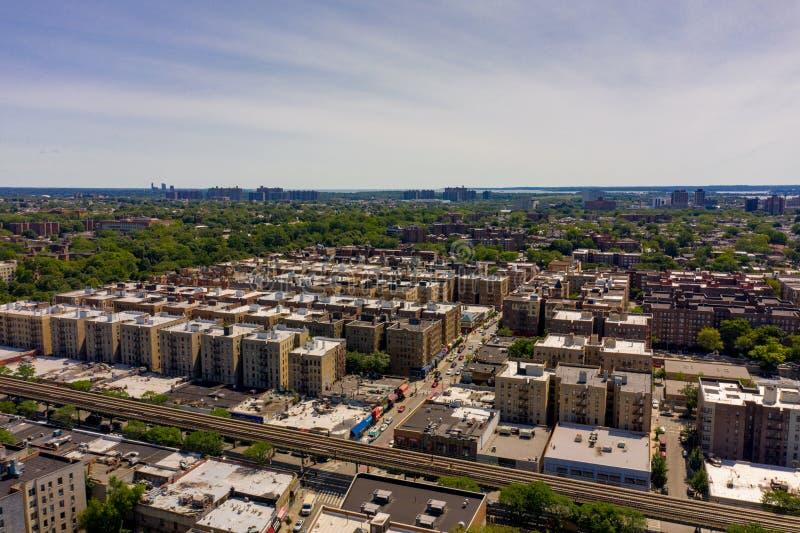 Luftfotos des Bronx New York lizenzfreies stockfoto