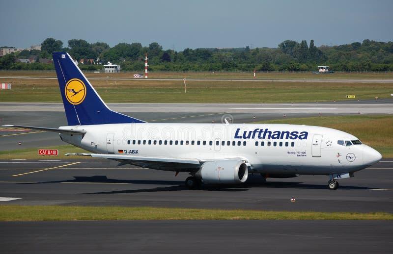 Lufthansa 737 royalty free stock image