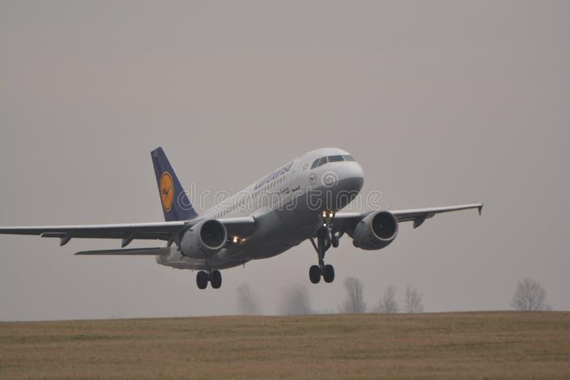 Lufthansa aplana fotos de stock