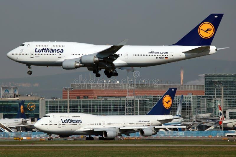 Lufthansa Boeing 747 image libre de droits