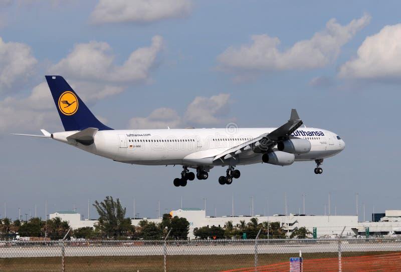 Download Lufthansa long haul flight editorial image. Image of miami - 22567200