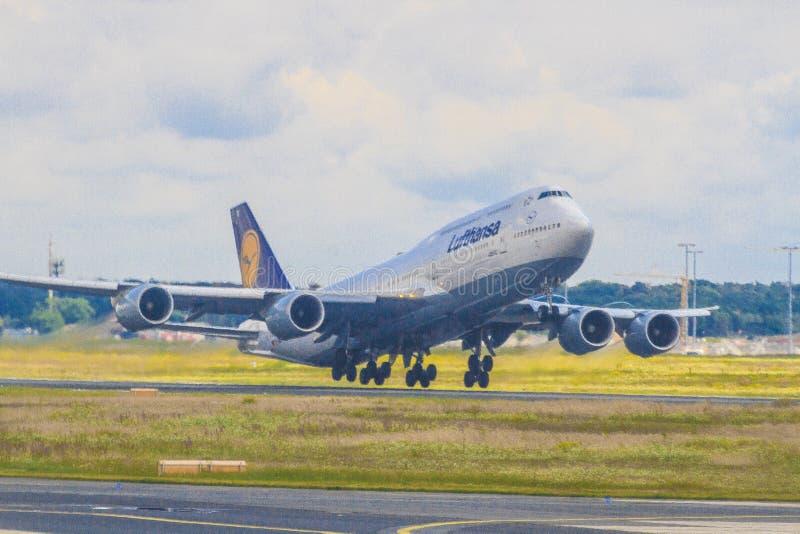 Lufthansa samolot obraz royalty free