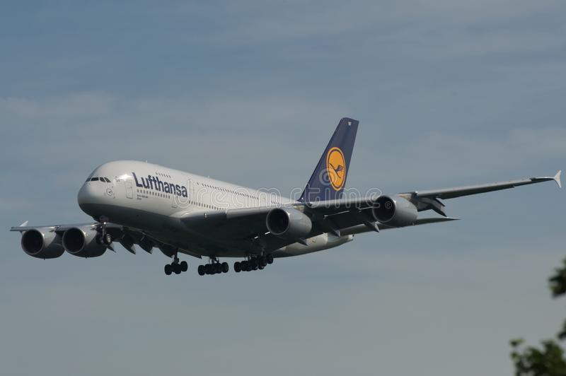 Download Lufthansa Super Jumbo editorial photo. Image of airliner - 24842946