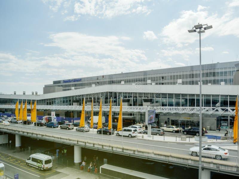 Lufthansa van de de luchthaven internationale reis van Frankfurt vlag royalty-vrije stock afbeelding