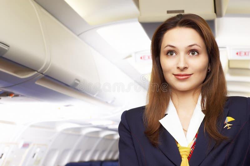 Lufthosteß (Stewardess) lizenzfreies stockfoto