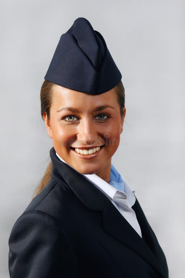 Lufthosteß (Stewardess). Portrait stockbilder