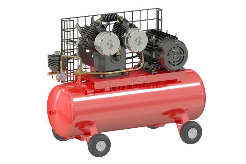 Luftkompressor stock illustrationer