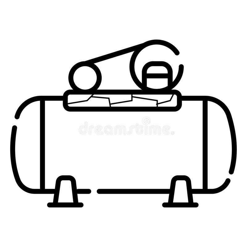 Luftkompressorlinie Ikone stock abbildung