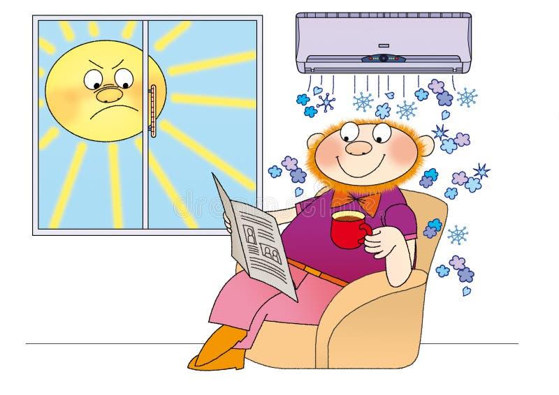 luftkonditioneringsapparat 7 stock illustrationer