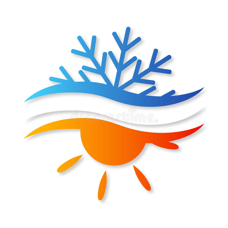 Luftkonditioneringsapparatdesign för vektor royaltyfri illustrationer