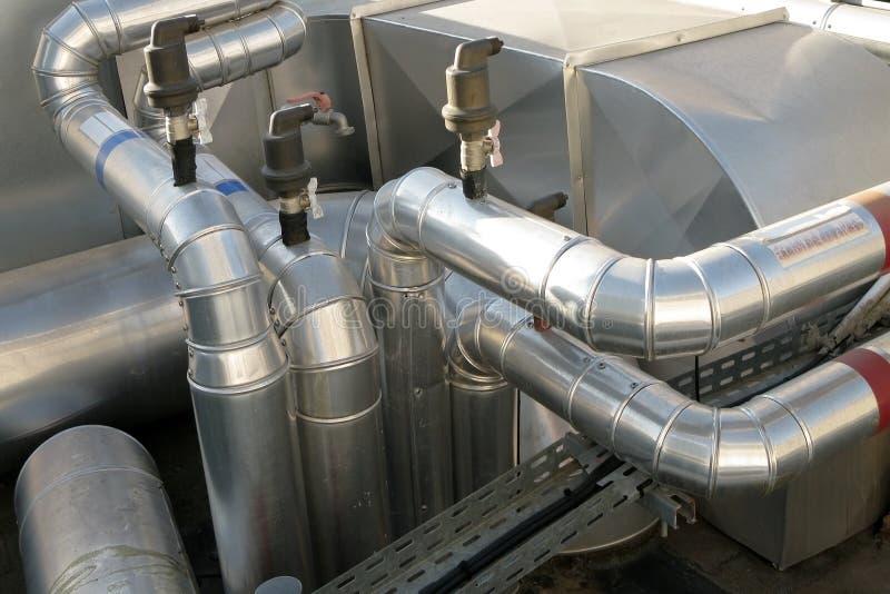 luftkonditioneringsapparatfördelningsventilation royaltyfria bilder