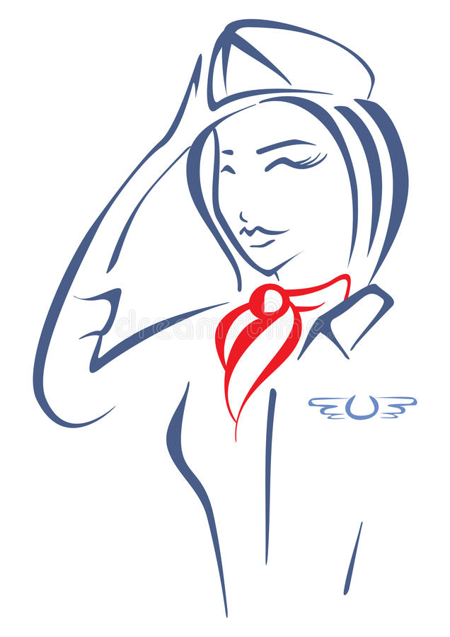 Luftlyxfnask stock illustrationer