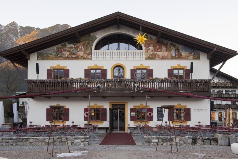 Luftmalerei w Garmish-Partenkirchen zdjęcie stock