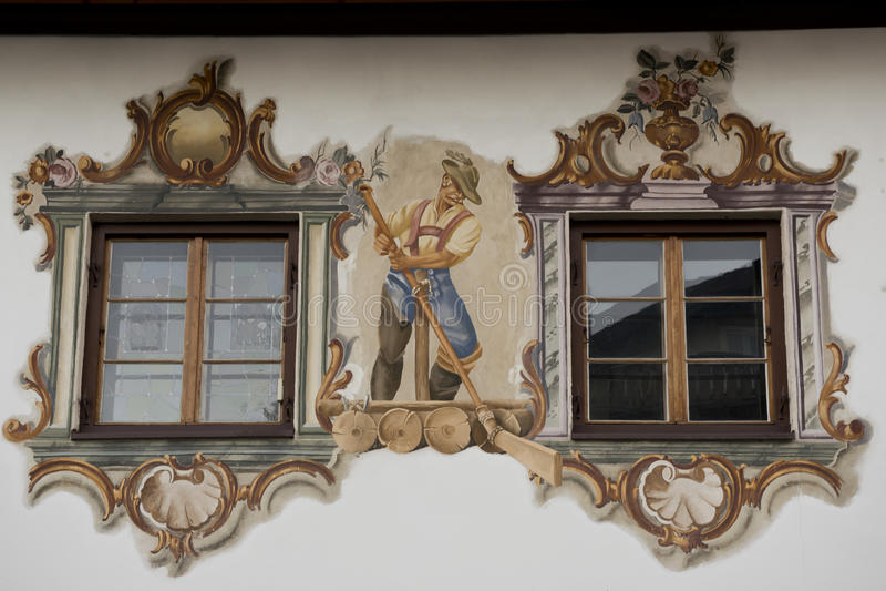 Luftmalerei w Garmish-Partenkirchen zdjęcie royalty free