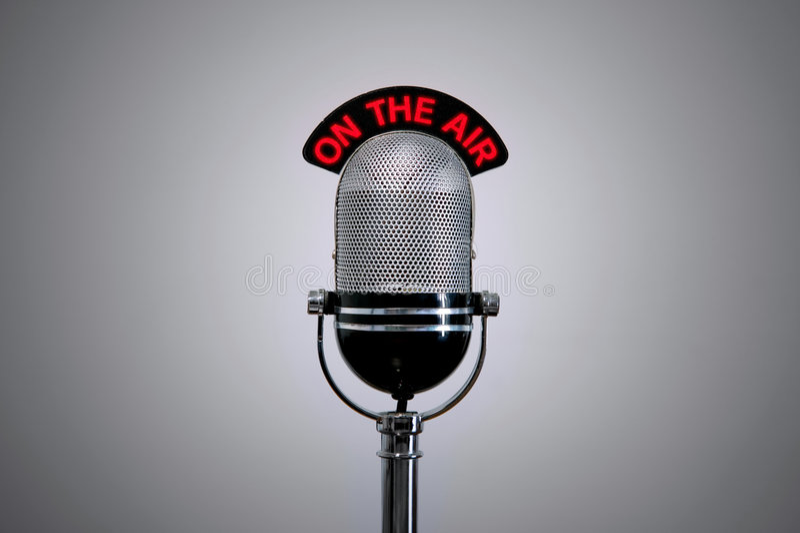 luftmikrofon royaltyfri foto