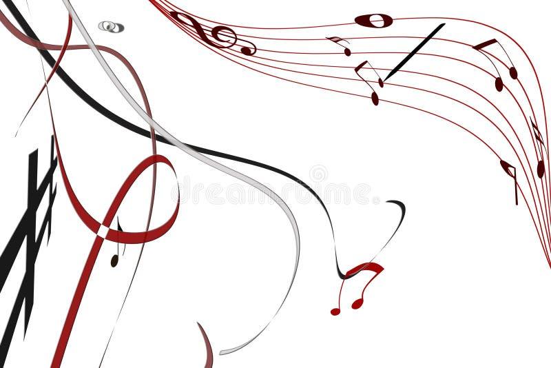 luftmusik stock illustrationer