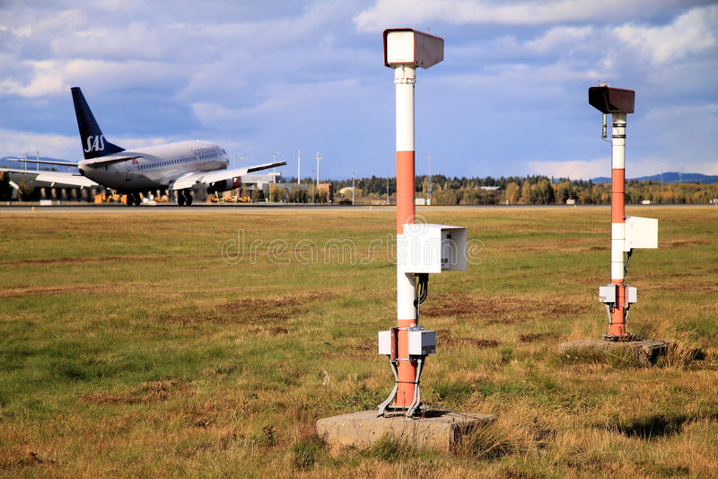luftnorway oslo trafik fotografering för bildbyråer