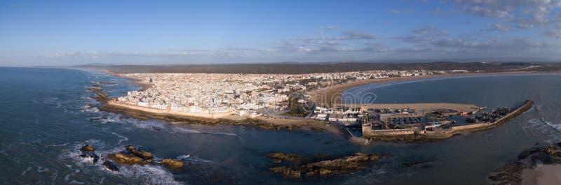 Luftpanorama von Essaouira-Stadt lizenzfreie stockbilder