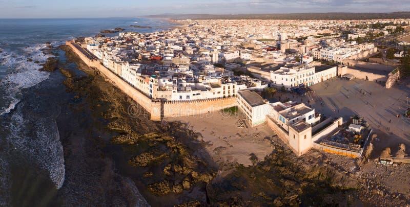 Luftpanorama von Essaouira-Stadt stockbilder
