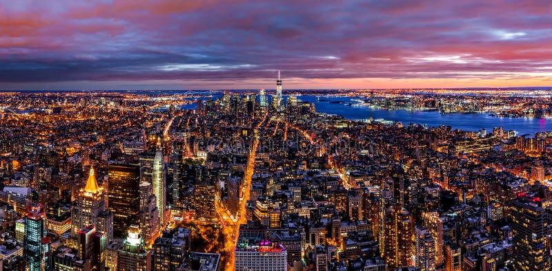 Luftpanorama von New York stockfoto