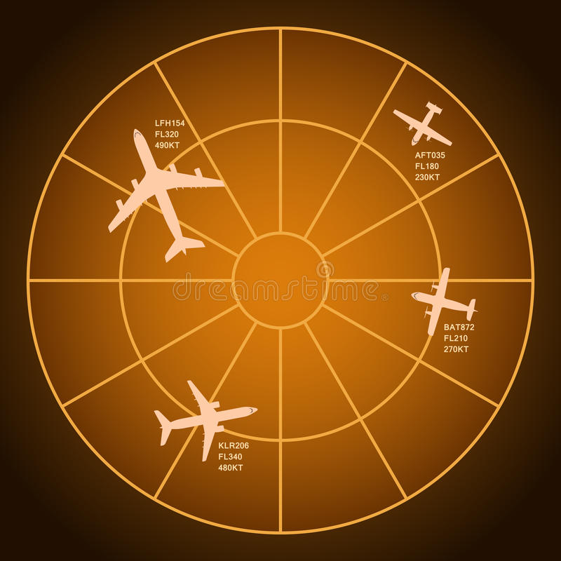 Luftradar royaltyfri illustrationer