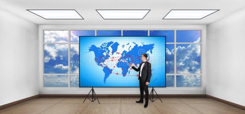Luftreiseplan lizenzfreie abbildung