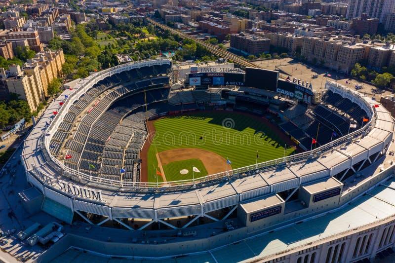 Luftschuß des Yankee Stadium NY stockbild