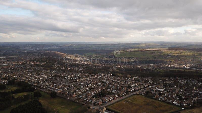 Luftschuß von Halifax Großbritannien stockbilder
