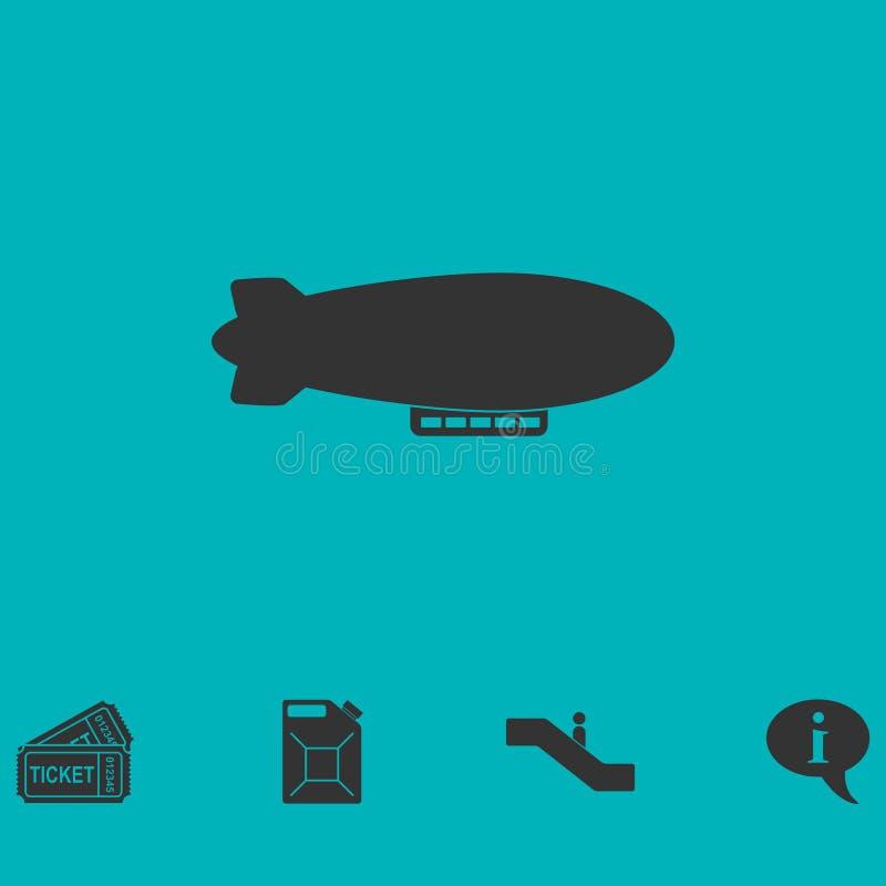 Luftskeppzeppelinaresymbol framlänges stock illustrationer