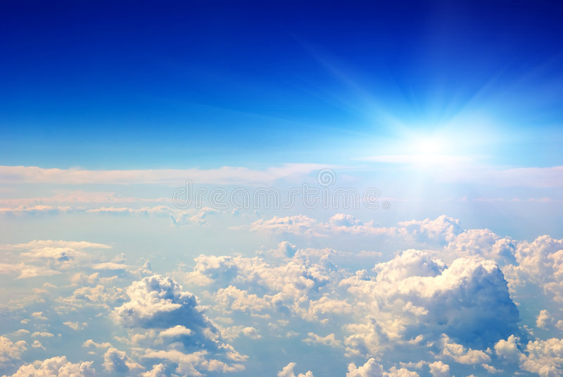 luftsoluppgångsikt arkivfoton