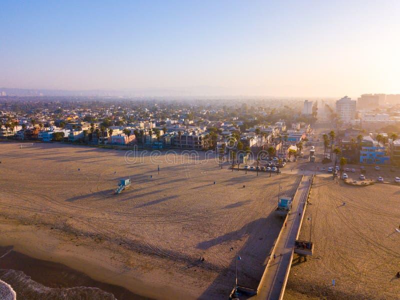 Luftsonnenaufgangansicht des frühen Morgens des Venedigs lizenzfreie stockfotos