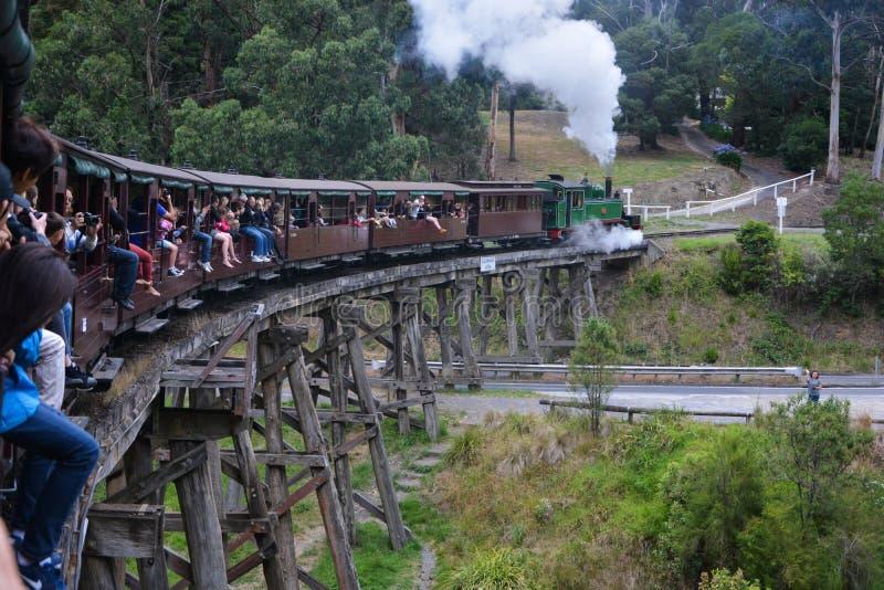 Luftstoßende Billyeisenbahn in Melbourneï-¼ ŒAustrailia stockbild