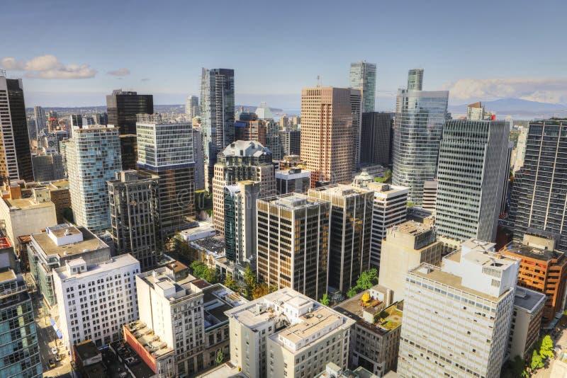 Luftszene des Vancouvers, Kanada Skyline stockbilder