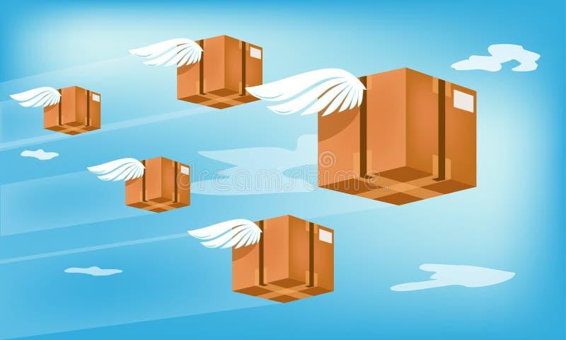 Lufttransport: Schnelle Lieferung zu Ihnen vektor abbildung