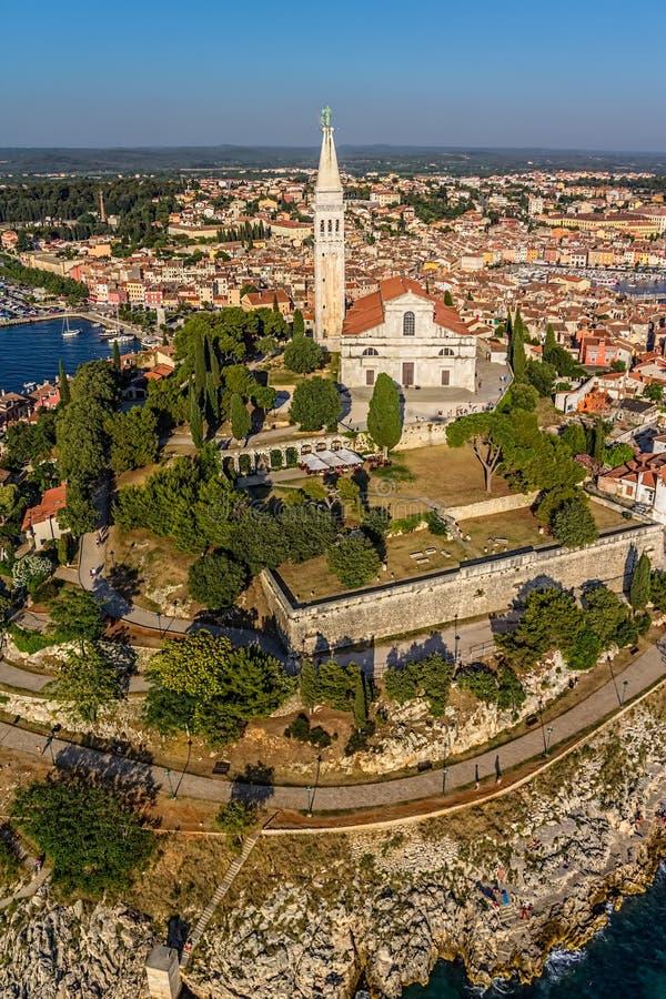 Lufttrieb von Rovinj, Kroatien stockfotografie