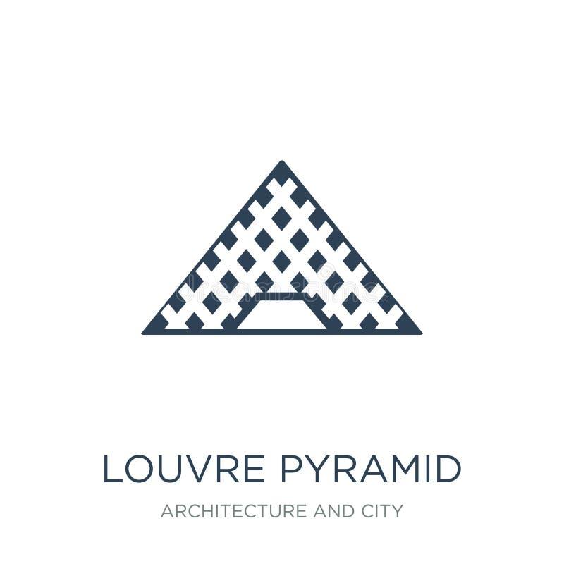 luftventilpyramidsymbol i moderiktig designstil luftventilpyramidsymbol som isoleras på vit bakgrund enkel symbol för luftventilp royaltyfri illustrationer