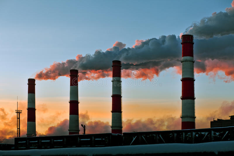 Luftverschmutzung lizenzfreie stockbilder