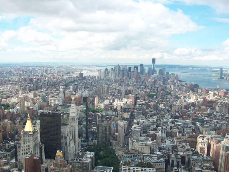 Luftvision av New York City royaltyfri fotografi