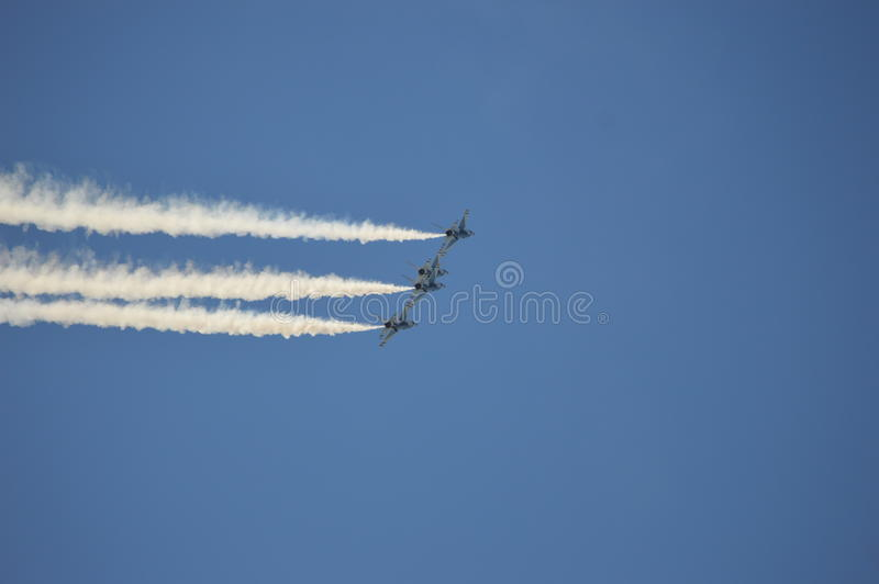 Luftwaffe Vereinigter Staaten Thunderbirds lizenzfreie stockfotos