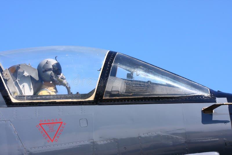 Luftwaffen-Jagdflieger stockfoto