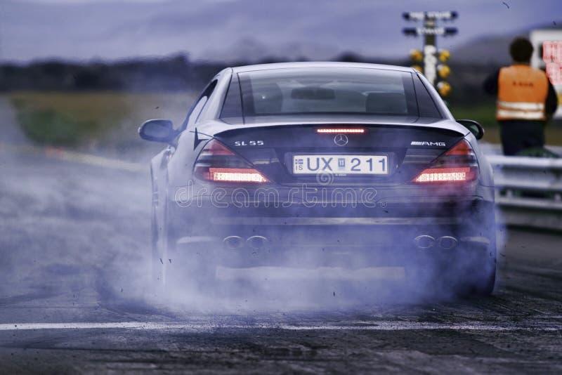 Luftwiderstand-Rennen, MERCEDES-BENZ lizenzfreie stockfotografie