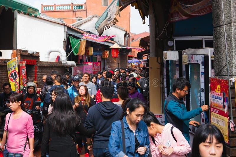 Lugang oude straat streetview in Lukang Taiwan royalty-vrije stock fotografie