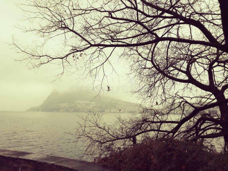 Lugano lizenzfreie stockbilder