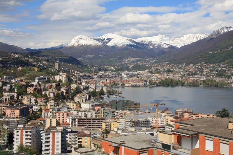 Download Lugano stock image. Image of european, tranquil, snow - 24301231