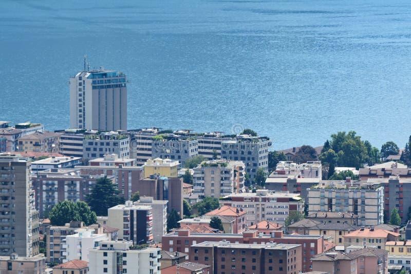 Lugano and his lake royalty free stock photos