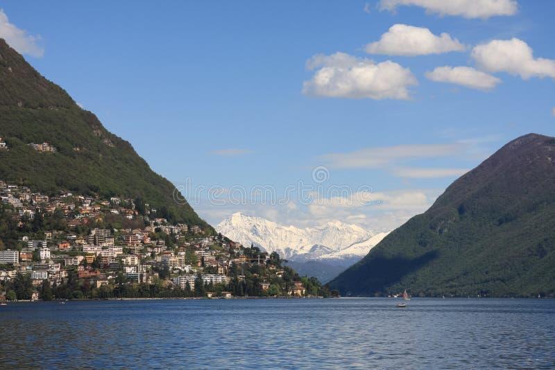 Download Lugano lake stock image. Image of lake, colour, outdoors - 24307841