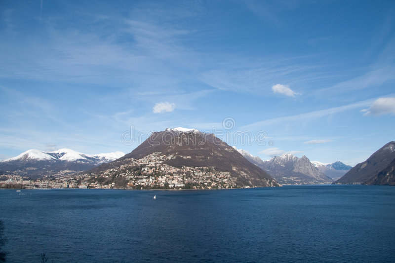 Lugano Lake Royalty Free Stock Photography