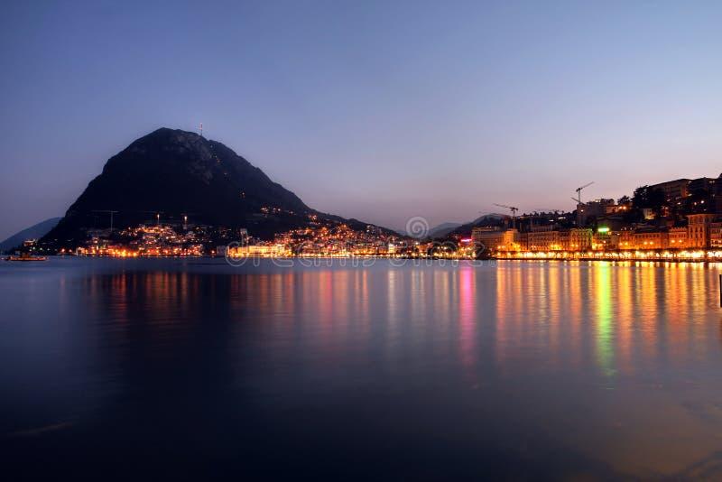 Lugano Schweitz royaltyfri bild