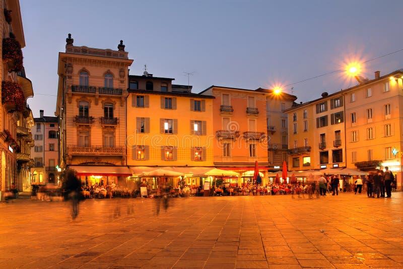Lugano Schweitz royaltyfria foton