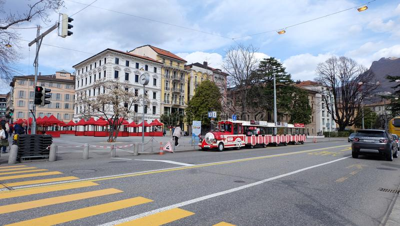 Lugano, Suiza imagen de archivo